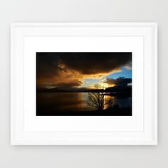 Buy Sunset in Scotland Framed Art Print by haroulita!!. Worldwide shipping available at Society6.com. Just one of millions of high quality products available.