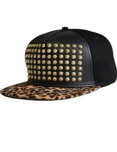 9ed9d2eb158 SSLR-Mens-Studded-Leopard-Snapback-Baseball-Caps-0