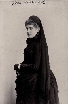 Ella Blanchard Howard in mourning, 1886