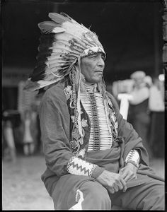 Chief Philip Howard, 1927 (photo by Leslie Jones)
