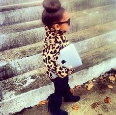 Leopard. iPad. Mimi. Kids. Girl. Fashion