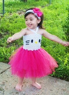 Hello Kitty Tutu Dress Set by totsboutique on Etsy, $40.00