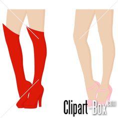 CLIPART LADY LEGS