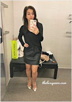 Topshop Drawstring Faux Leather Skirt, V Neck Long Sleeve Tee, BEST OF NORDSTROM ANNIVERSARY SALE, Nordstrom Picks, Cold Shoulder Dress, Fall Style, Fall Fashion, Nordstrom Anniversary Sale