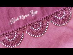 Crochet Flower Tutorial, Crochet Flowers, Crochet Videos, Crochet Projects, Pearl Necklace, Cross Stitch, Embroidery, Pearls, Jewelry