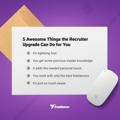 The best way to find the top freelance talent - upgrade your project to Recruiter today and find the perfect Freelancer for your job! Get Some, You Working, Need To Know, Knowledge, Good Things, Facts