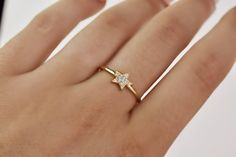 Delicate Rings, Dainty Ring, Star Ring, Stackable Diamond Rings, Gold Diamond Band, Gold Stars, Back Home, Engagement Rings, Natural Earth