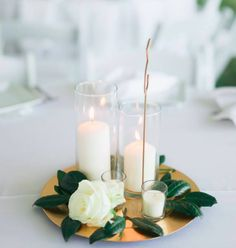 Banquet Table Decorations, Simple Wedding Centerpieces, Wedding Shower Decorations, Wedding Arrangements, Mirror Centerpiece, Candle Centerpieces, Centrepieces, Candles, Wedding Table Centres