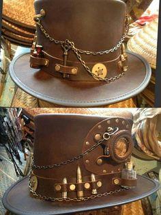 Steam up your Halloween with these steampunk costume ideas for women and men. Steampunk Hut, Steampunk Top Hat, Steampunk Crafts, Steampunk Cosplay, Steampunk Design, Steampunk Wedding, Victorian Steampunk, Steampunk Clothing, Steampunk Fashion