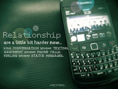 Relationship these days....