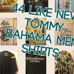 Lot 44 Tommy Bahama Men Shirts! xmas4 hubby/dad? I have 44 tommy Bahama shirts that my dad wants me to get rid of rid. Honestly like new! I have individual pics of each for serious buyers only!! Majority are size XL (bigger than normal XL in this brand). These shirts have all been dry cleaned and are made of silk. Super high quality shirts for your male love ones. New these shorts run way over $100 each each. Will sell all 44 for $15 each, 20-30 for $20 each , and any any lower will be $25…