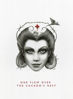 Illustration / One Flew Over The Cuckoo's Nest — Courtney Brims.