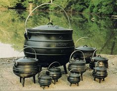 Cauldron Cast Iron Large Size 20 Gallon Wilderness Survival WICCA - oh, how I would love these! Cast Iron Kettle, Cast Iron Pot, Cast Iron Skillet, Cast Iron Cooking, It Cast, Dutch Oven Cooking, Dutch Ovens, Cooking Oil, Cooking Light