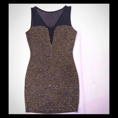 beautiful new dress  Cute new dress for special occasions*** Large** 75% nylon 20% metallic 5% spandex .. New not tag  Dresses Mini