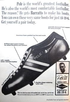 Barrats football boots - endorsed by Pele in 1966 Retro Football 4992178ae05