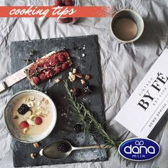 DANA Milk and Yogurt - Ingrediets of a wonderful breakfast Uht Milk, Tetra Pak, Yogurt, Dairy, Nutrition, Cooking, Breakfast, Food, Baking Center