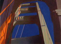 Golden Gate (1955) oil on canvas   Charles Sheeler