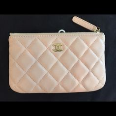 Chanel baby pink small o case pouch card holder No flaws hardly carried. 6 inches by 3.5 inches CHANEL Bags