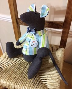 A personal favourite from my Etsy shop https://www.etsy.com/uk/listing/492369688/mr-rat-stuffed-animal-handmade-one-off