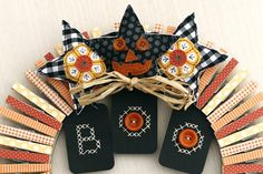 Three Fall Stars from the Papertrey Ink Beaded Holiday Stitch Kit