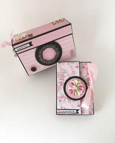 Baby Girl Scrapbook Photo Album Pink and Black by CallMeCraftie
