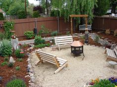 pea gravel with rock surround