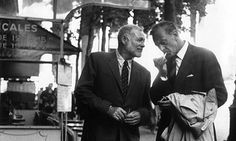 Ernest Hemingway with Gary Cooper in Paris. Photograph: Keystone-France/Gamma-Keystone via Getty Images