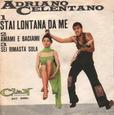 "Adriano Celentano ""Stai Lontana Da Me"" Ri-Fi Records (Milan) Gus Johnson, Boston Band, Johnny Hodges, Worst Album Covers, Bad Album, The Man From Uncle, Columbia Records, Lp Cover"