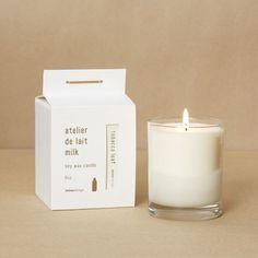 Milk soy candle packaging like @ #rockcanymedia
