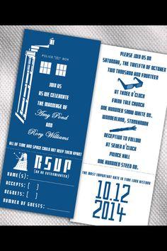 Doctor who wedding invitations offbeat bride weddings and wedding doctor who wedding invitations stopboris Image collections
