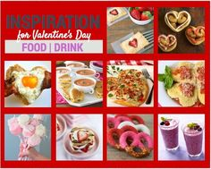 Top 10 Valentine's Day Food from breakfast to lunch, dinner, and dessert #Valentines
