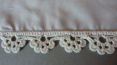 Finally!! A great tutorial on crocheting a lace edging straight onto a pillowcase using an awl for holes!