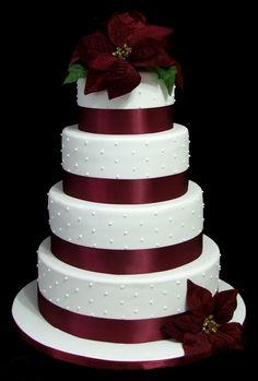 christmas Wedding Cakes | Christmas wedding