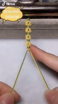 Diy Crafts Hacks, Diy Crafts Jewelry, Bracelet Crafts, Handmade Jewelry, Flower Bracelet, Rope Crafts, Etsy Jewelry, Handmade Art, Diy Bracelets Patterns