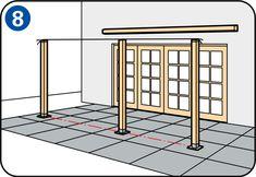 Terrasoverkapping maken - Tussenpaal terrasoverkapping