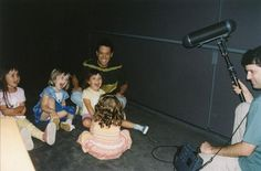 From 2001: Lee Unkrich recording his daughters and their friends screaming for Monsters, Inc. / via Lee Unkrich Twitter
