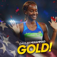 NBC Olympics ‏@NBCOlympics  Aug 18 Dalilah Muhammad wins the women's 400m Hurdles for #GOLD! #Rio2016