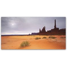 Trademark Fine Art Monument Valley Panorama I Canvas Art by Moises Levy, Size: 12 x 24, Orange