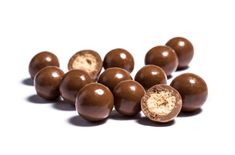 Milk Maltichocs. A crunchy malted milk centre, pan coated in layers of creamy milk chocolate.
