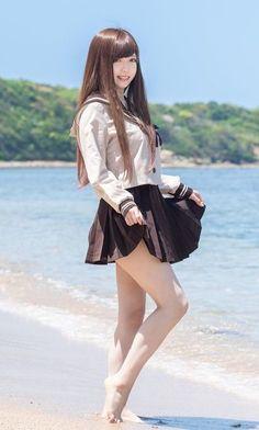 ▷ - kuro - model 寧々 photo by kuro Japanese School Uniform Girl, School Girl Japan, School Girl Outfit, School Uniform Girls, Japan Girl, Beautiful Japanese Girl, Beautiful Asian Girls, Cute Asian Girls, Cute Girls