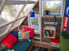 Treehouse Micro Cabin/Office Built w/ Mostly Reclaimed Materials