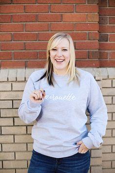 Pirouette Sweatshirt by dancelove. Crew Neck Sweatshirt, Sweatshirts, Sleeves, Sweaters, Cotton, Clothes, Fashion, Outfits, Moda