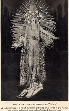 "Marchesa Casati representing ""light"""