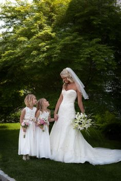 Bride with her two flower girls.