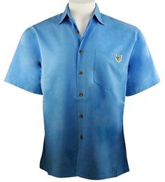 Bamboo Cay - Island Soft, Men's Tropical Style Colbalt Color Camp Shirt