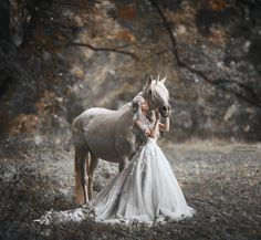 "unicorn fairytale fantasy photo- ""The fact that something can be explained does not mean it is not a miracle"" Terry Pratchett foto: Marketa Novak dress: Victory salon crown: A Mon Seul Desir (Paris) model: Bára Marková"