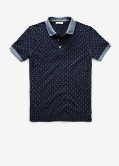 e5f310ccd2621 Rhombus print piqué polo shirt - Man