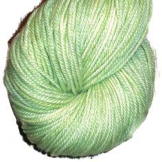 Apple Green 90Y10B 1-4 Superwash Merino - Hand Dyed Yarn - DK Yarn - Apple Green Double Knit 3 Ply Yarn - Apple Green Hand Dyed Dk Weight