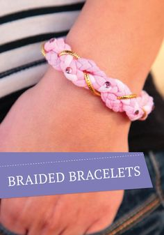 Weave up a cool tie dyed and braided bracelet -- a fun summer craft activity for the kids too!