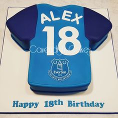 18th Birthday Cake #everton #footballshirt #cavendishcakes